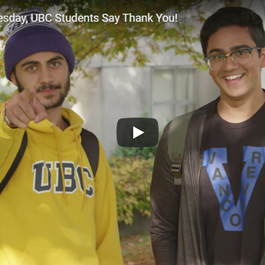 On Giving Tuesday, students say Thank You!