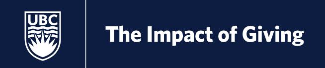 UBC | Impact of Giving